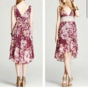 Free People floral double v-neck sleeveless dress